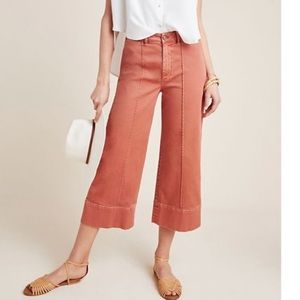 Anthropologie Wide Leg Cropped Chino
